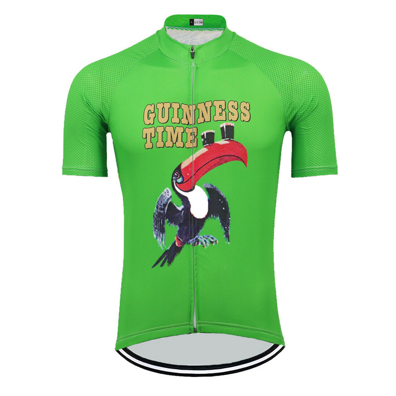Ireland Guinness Time Beer Cycling Jersey Green - $29.00
