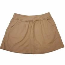 J.Crew Womens Skirt 0 Peachy Brown Mini A Line Pockets Cotton Twill Zipper  - $22.99
