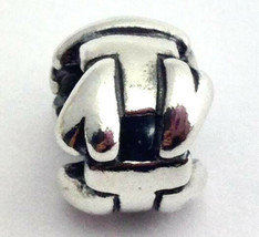 "Authentic Trollbeads Letter ""T"" Sterling Silver Charm 11144T, New - $22.78"