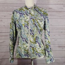 Chicos Womens Size 1 Medium Jacket Cotton Blend Multicolor Snake Print F... - $27.10