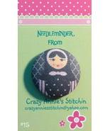 Matryoshka #15 Needleminder fabric cross stitch needle accessory - $7.00