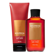 BATH & BODY WORKS Bourbon Body Cream & 2-In-1 Hair + Body Wash Set For Men - $28.48