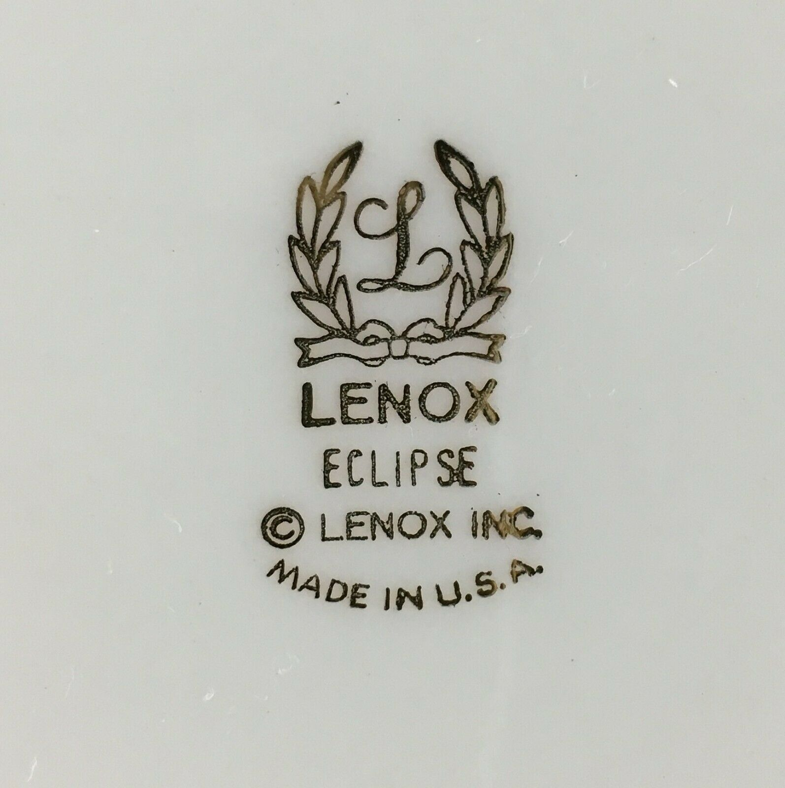 Lenox Eclipse Gravy boat and attached under plate