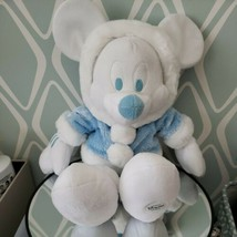 """Disney Store Exclusive Mickey Mouse Winter White Snowball Blue Plush 18""""  - $29.69"""