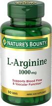 Nature's Bounty L-Arginine 1000 mg, 50 Tablets - $9.30