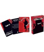 Ninja Health Tips Illustrated Poker Size Playing Cards, NEW SEALED - $6.19