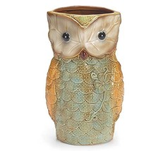 "Owl Shaped Vases, Handpainted, Ceramic, 9"" Tall - $31.60"