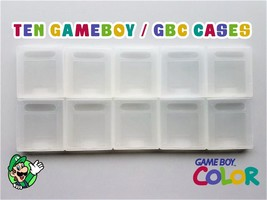 10x NEW Lot Nintendo Game Boy Color Game Case Cartridge Dust Cover (USA ... - $9.95