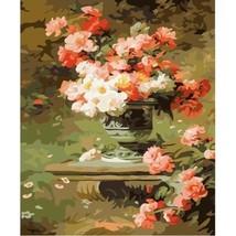 Paint By Number Kit Ornamental Outside Garden Flowerpot DIY Picture 40x5... - $15.51