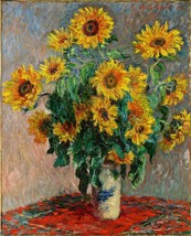 Bouquet of Sunflowers Painting by Claude Monet Art Reproduction - $32.99+
