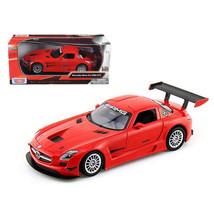 Mercedes SLS AMG GT3 Red 1/24 Diecast Car Model by Motormax 73356r - $29.91