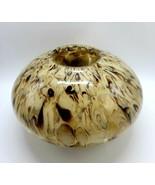 """Manhattan Chic Artisan 10 x 6"""" Handmade Round Vase - Beige w/ Brown Swirls - £28.79 GBP"""