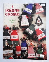 A Homespun Christmas Cross Stitch Pattern Leaflet - $4.95