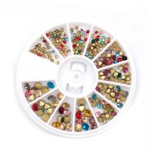 Gam-Belle® Multi-color Acrylic Glitter Rhinestones Adhesive Stickers Nai... - $3.33