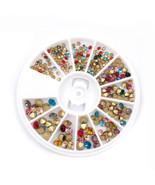Gam-Belle® Multi-color Acrylic Glitter Rhinestones Adhesive Stickers Nai... - $3.58