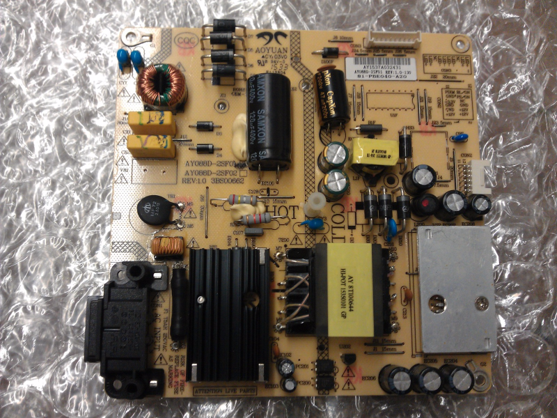 81-PBE048-H20 Power Supply Board Board From Insignia 48DR420NA16 LCD TV