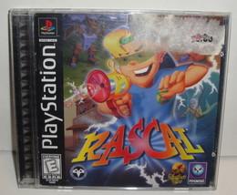 PS1 RASCAL VIDEO GAME CiB Complete psx - Black Label 1998 playstation original - $2.99