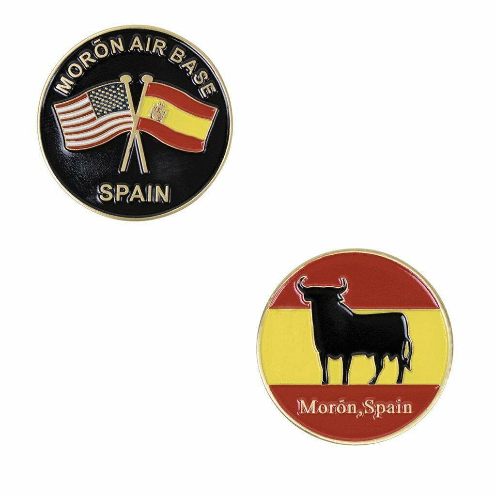 "MORON SPAIN AIR FORCE BASE AFB 1.75"" CHALLENGE COIN"