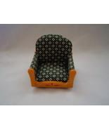 Vintage Miniature Dollhouse Padded Chair Furniture - $9.99