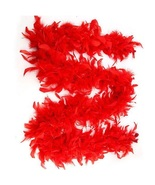RED Chandelle Feathers 45 gram Boa 6-feet long Society Red Hat Fun - $5.60