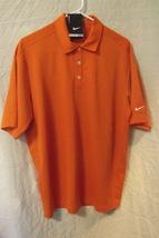 Mens Nike NWT Orange Dri Fit Short Sleeve Polo Size Medium - $15.95