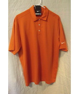 Mens Nike NWT Orange Dri Fit Short Sleeve Polo Size Medium - $15.95