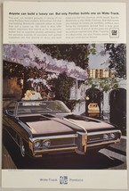 1968 Print Ad Pontiac Bonneville Wide-Track Cars Boat in Canal - $11.56