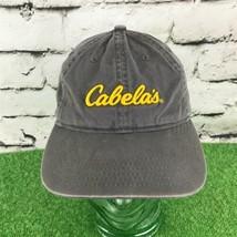 Cabela's Youth One Sz Hat Gray Khaki Adjustable Strapback Baseball Cap - $14.84