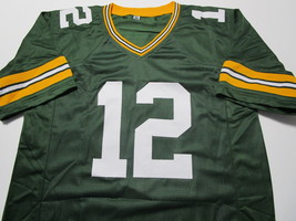 AARON RODGERS / AUTOGRAPHED GREEN BAY PACKERS CUSTOM FOOTBALL JERSEY / COA image 2