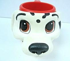 Disney Applause Vintage Dalmatian 3D Face Plastic Kid's Cup Mug  - $13.06