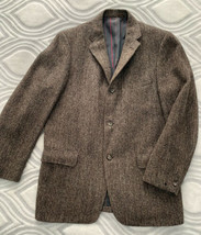 Harris Tweed Vtg Men Brown Tweed Sport Coat Blazer Jacket Pure Scottish ... - $59.35