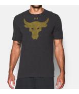 Under Armour Mens UA Project Rock Brahma Bull T-Shirt 1300114-001 Black NWT - £19.02 GBP