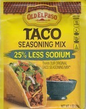 Old El Paso Taco Seasoning ~ 25% Less Sodium ~ 1oz packet - $1.24