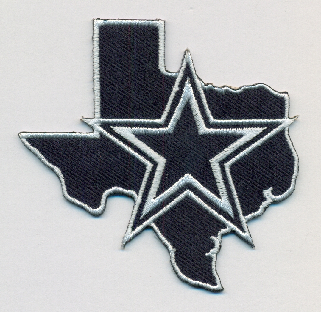 "Dallas Cowboys with Texas Map Embroidered Patch Size 3"" x 3"" Shipped from USA"