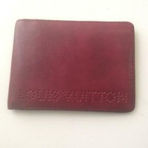 Authentic Louis Vuitton Burgundy Leather Mens Wallet  4.5in x 3in (SN2077) - $280.20