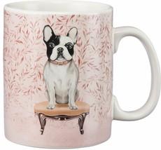 French Bull Dog Coffee Mug Pet Portraits 20 oz. Stoneware Cup Dog Gift - $14.46