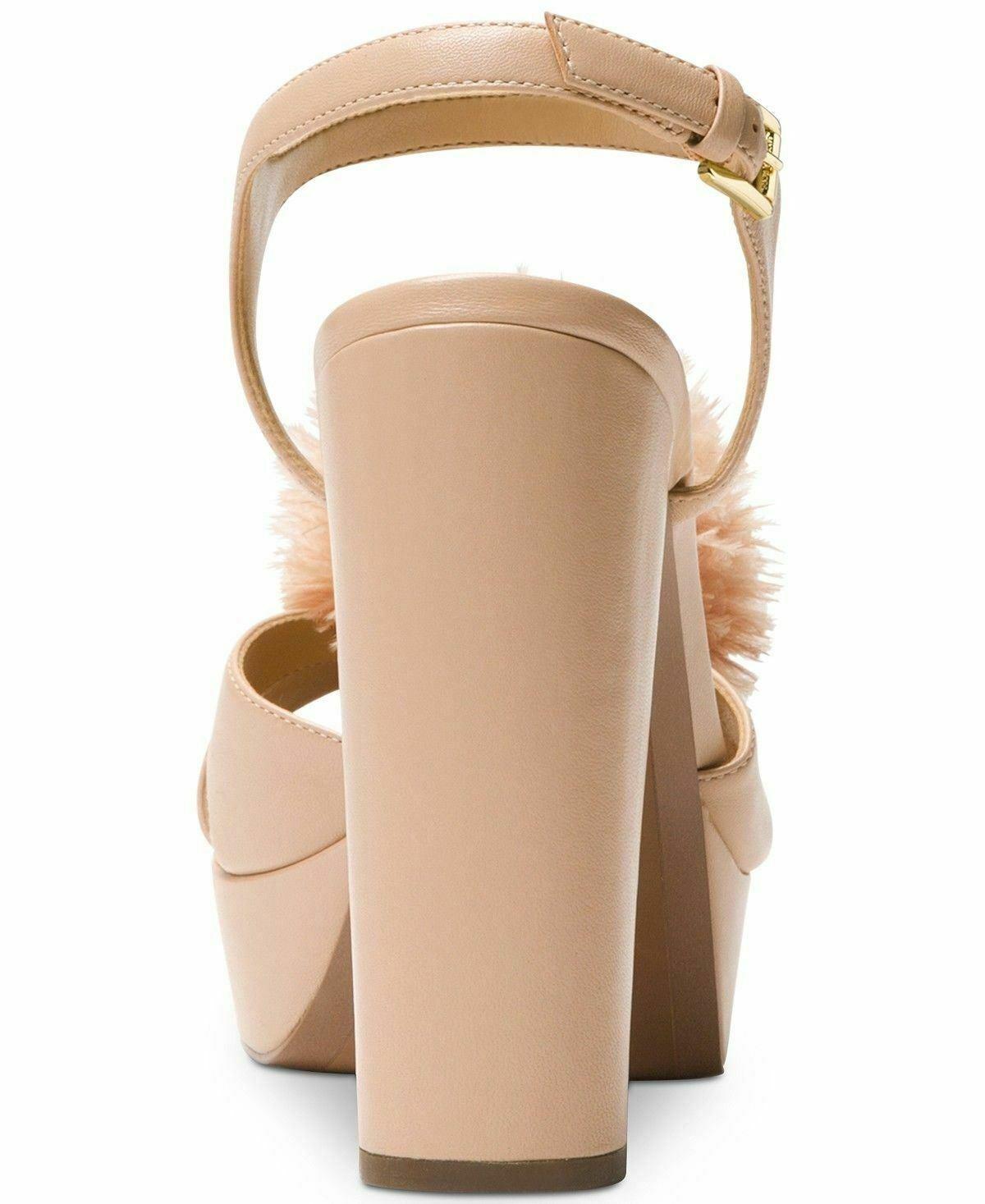MICHAEL Michael Kors womens Fara Platform Sandals size 9M Color Oyster heels NWB image 2