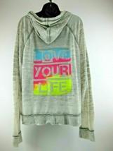 Hang Ten Love Your Life Hoodie Grey Size XL Free Shipping - $18.80