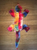 """! LIZZY the Colorful Rainbow LIZARD - Large 21"""" Ty Beanie Buddy Plush Re... - $9.85"""