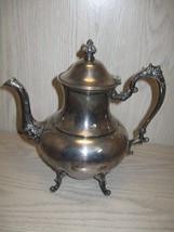 Sheridan Silver Co Silver On Copper Tea Pot Flo... - $29.95