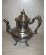 Sheridan Silver Co Silver On Copper Tea Pot Flo... - $29.95
