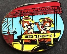 Disney Transportation WDW Cast Lanyard Dapper Chip & Dale Magic Kingdom Car pin - $9.79