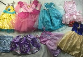 Halloween Disney Princess Dress Up Lot Pretend Play 4-6 Yr Costume Gown - $37.39