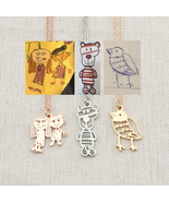 Copy of children's drawings as pendants | Beautiful memory of child's painting - $49.00