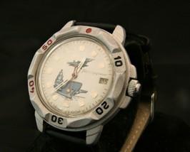 Rare vintage Soviet Vostok Naval Commander 17 jewel USSR military wristwatch - $108.90