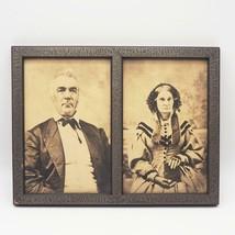 Incorniciato Fotografia Seppia Man & Donna Antico - $89.34