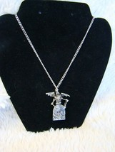 Gothic Fashion Skeleton with Wings RIP Tombstone Silver Necklace Chain 1... - $10.88
