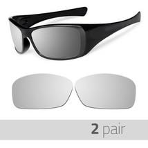 2 Pair Optico Replacement Polarized Lenses for Oakley Hijnix Sunglasses Mirror - $16.99
