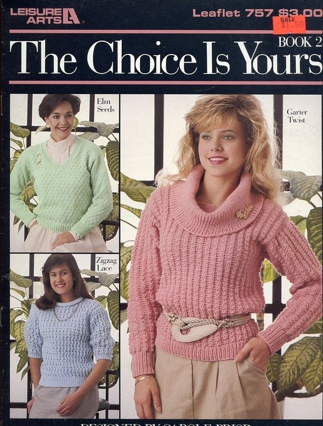 "The Choice Is Yours Sz 35"" to 48"" Knit Pattern Leaflet 6 Designs LA757 Book 2"