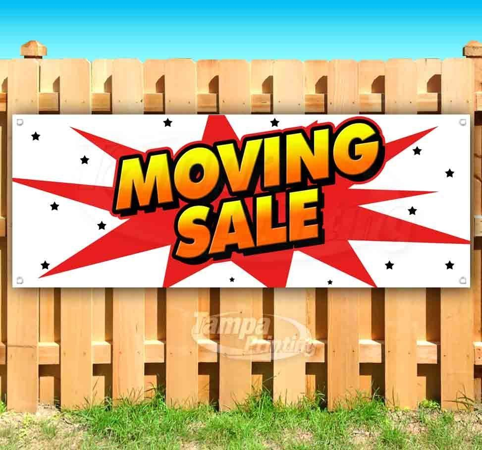 moving sale advertising vinyl banner flag and 50 similar items
